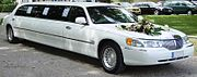 Lincoln Town Car limousine wedding car.jpg