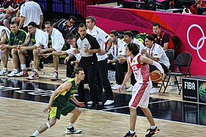 Alexey Shved - Image: Lithuania vs. Russia in quarter finals of Men's Basketball