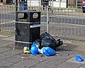Litter bin rubbish Lordship Lane Tottenham, London, England 1.jpg
