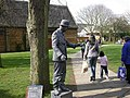 Living Statue in front of Tithe Barn, Wellingborough - geograph.org.uk - 23216.jpg