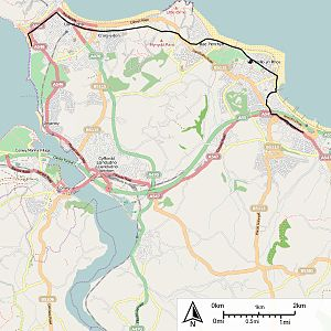Llandudno and Colwyn Bay Electric Railway - Map of the route of the Llandudno and Colwyn Bay Electric Railway