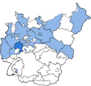 Province of Kurhessen - The Province of Kurhessen in 1944.