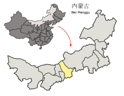 Location of Ulaan Chab Prefecture within Inner Mongolia (China).png