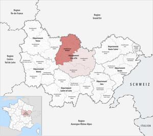 Arrondissement of Montbard - Image: Locator map of Arrondissement Montbard 2017