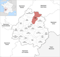 Locator map of Kanton Thiviers 2019.png