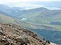 Lochan Lunn Da-Bhra and Loch Linnhe from Ben Nevis.jpg