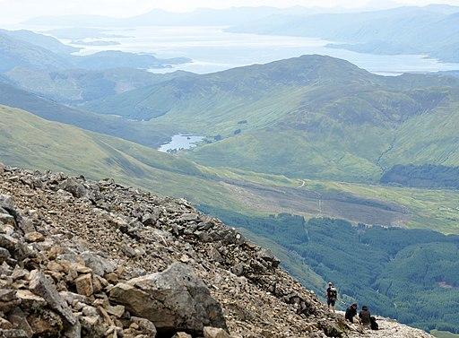 Lochan Lunn Da-Bhra and Loch Linnhe from Ben Nevis