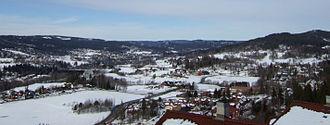 Lommedalen - Late winter vista of Lommedalen