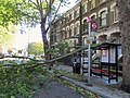 London 28 October 2013 Storm Damage in Highbury Bus Stop - panoramio.jpg