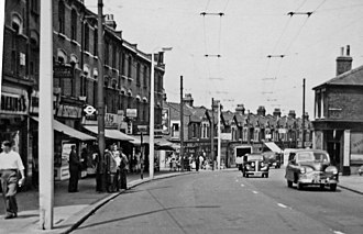 Walthamstow - Hoe Street, looking north, 1955
