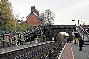 Hunts Cross railway station - The station buildings at Hunts Cross.
