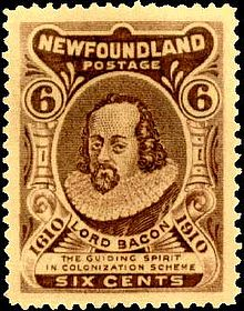 Image result for newfoundland postage stamp lord bacon