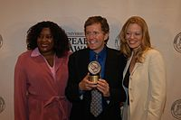 Loretta Devine, John J. Sakmar, and Jeri Ryan, May 2003 (1).jpg