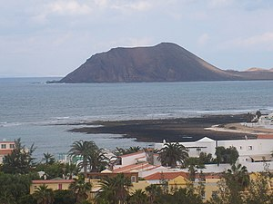 Lobos Island - The island as seen from the town of Corralejo