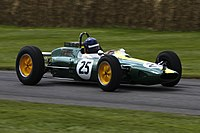 Lotus 25 at Goodwood FOS 2012.jpg
