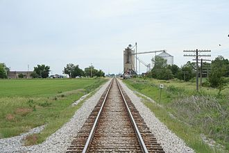 Brown Township, Champaign County, Illinois - A view of the railroad tracks leading to Lotus, Illinois in section 31 of Brown Township on the McLean–Champaign county line