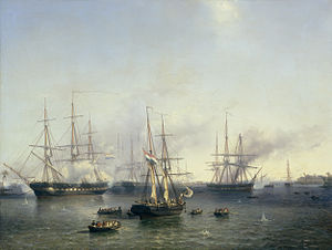 Kingdom of Besut Darul Iman - Dutch vessels during the fall of Palembang in 1850s. The settlement in Kota Palembang was named after the Sumatran town, pursuant to the place of origin many of the early pioneers.