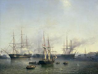 Conquest of Palembang, Sumatra in Indonesia, by Lieutenant-General Baron de Kock, June 24, 1821