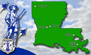 Louisiana Air National Guard - Location of Louisiana ANG units.