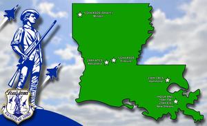 Louisiana Air National Guard - Location of Louisiana ANG units.