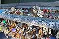 Love locks, the Pont de l'Archevêché, Paris 11 June 2014.jpg