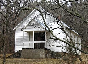 National Register of Historic Places listings in Dent County, Missouri - Image: Lower Parker School House MO NPS