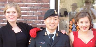 7th Toronto Regiment, RCA - Lt. Lum represents the regiment at a goodwill visit in the Netherlands in March, 2015.