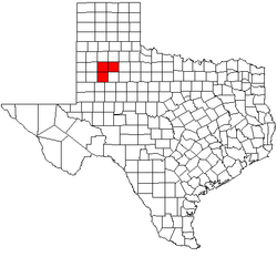 Map of Lubbock metropolitan area