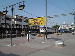 Lucknow Charbagh Station Board.jpg