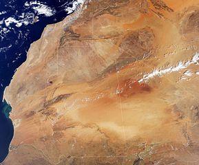 Satellitenaufnahme nördliches Westafrika