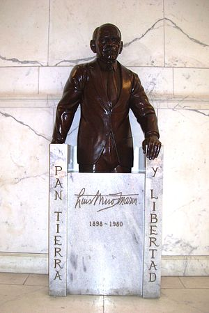 Luis Muñoz Marín - Sculpture of Muñoz Marín inside the Capitol of Puerto Rico