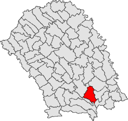 Location of Lunca, Botoșani
