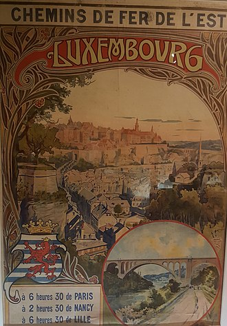 History of rail transport in Luxembourg - Luxembourg railway poster