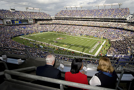 M&T Bank Stadium, home of the Baltimore Ravens. M&T Bank Stadium DoD.jpg