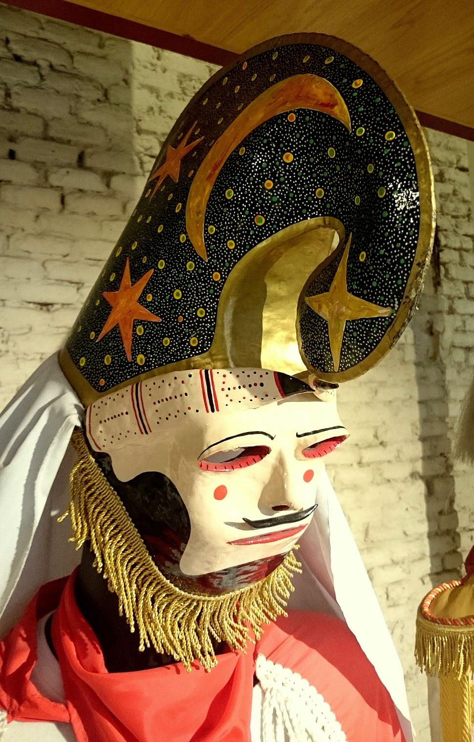 Máscara de pantalla del carnaval de Xinzo de Limia (Ourense) en el Museo de Artes y Tradiciones Populares (15 de julio de 2016, Madrid)