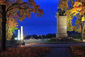 """Mälestusmärk """" Rootsi lõvi"""" Narvas"""