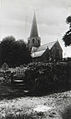 M1928.39A View of Grosmont church from below churchyard by W.A. Call.JPG