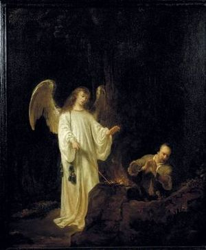 "Kurt Walter Bachstitz - Ferdinand Bol ""The Angel of the Lord appears unto Gideon"" NK 2484"