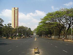 M G Road, Bangalore - Bangalore CBD, M G Road before construction of metro rail