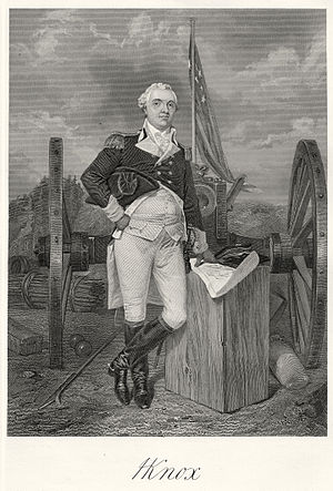 Henry Knox - Steel engraving of Henry Knox by Alonzo Chappel