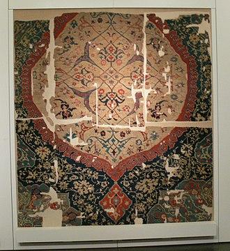 Anatolian rug - Fragment of a Medallion Ushak carpet, ca. 1600. Museum of Islamic Art, Berlin