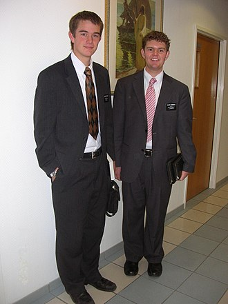 Mission (LDS Church) - Two missionaries of The Church of Jesus-Christ of Latter-day Saints in 2008.
