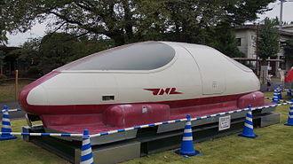 SCMaglev - ML100 preserved at the RTRI facility in Kokubunji, Tokyo, October 2015