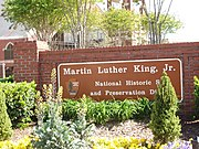 The MLK National Historic Site honors the life of Dr. Martin Luther King, Jr.
