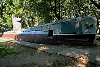 Quebec-class submarine - M 261 on display at Museum of military technologies Oruzhie Pobedy