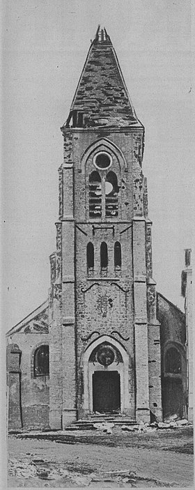 Église de la commune en septembre 1914.