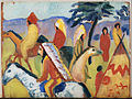 Macke, August - Reitende Indianer beim Zelt - Google Art Project.jpg