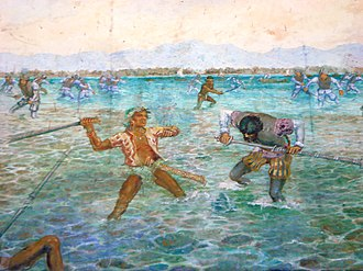 Battle of Mactan - A mural painting depicting the Battle of Mactan