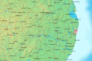 Geography of Chennai - Chennai and surrounding towns