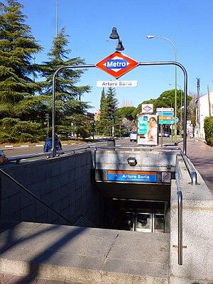 Arturo Soria (Madrid Metro) - Image: Madrid Estación de Metro de Arturo Soria 1